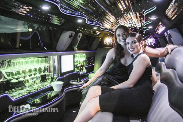 white chrysler limo hire