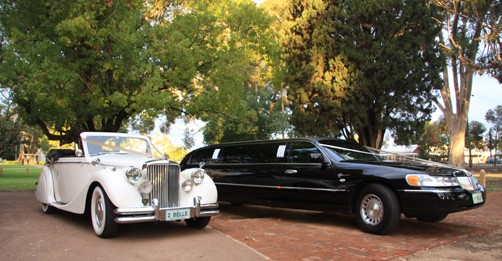 Jaguar convertible and Lincoln limousine hire Perth