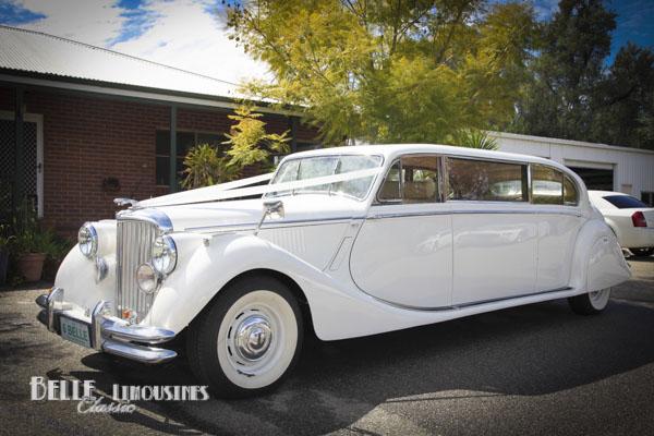 vintage wedding limousines