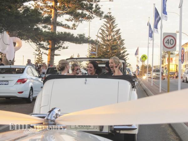 convertible wedding transport