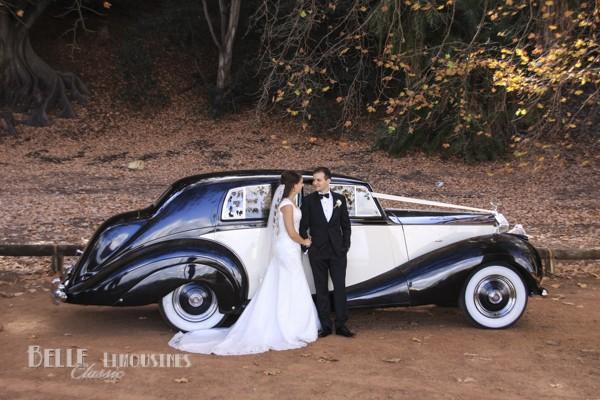 luxury wedding limousine