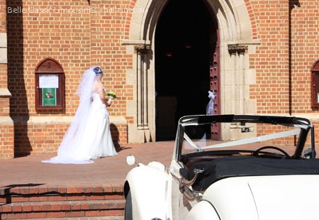 Wedding car at St Georges Cathedral