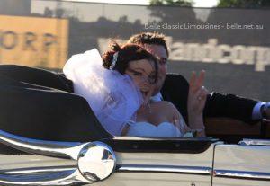 Rebecca and Mike in the Jaguar Mk5 convertible