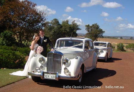 Bentley wedding limousine Perth