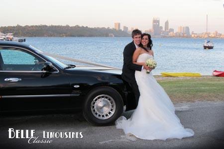 swan river wedding limo