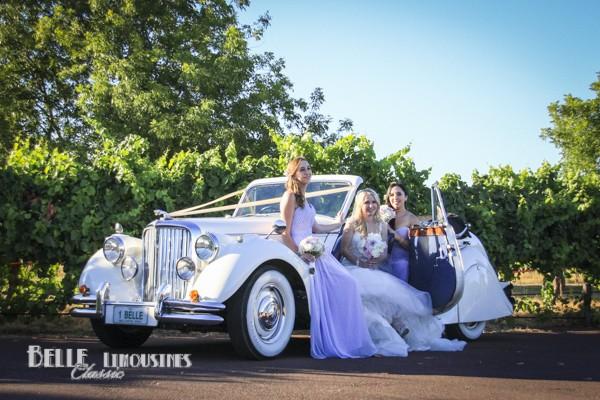 jaguar convertible bridal car
