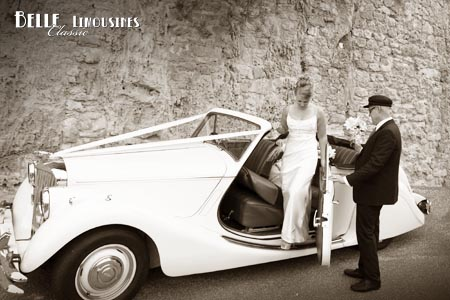 convertible wedding car hire