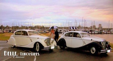 classic wedding car photo