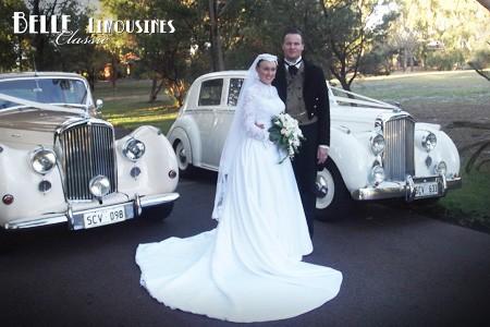 classic wedding car photographs