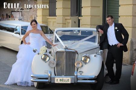 jaguar wedding limousine