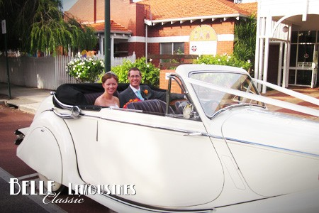 convertible wedding cars perth