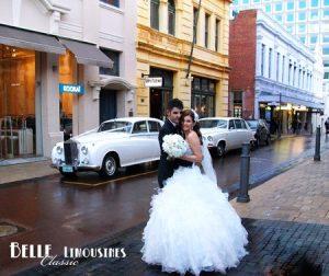rolls royce wedding limo