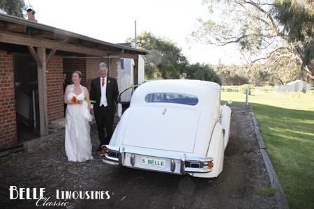 jaguar wedding car rose hill