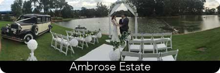 vintage wedding limos
