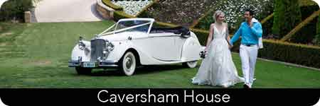 convertible wedding car