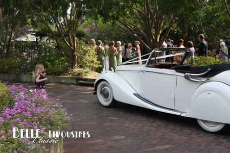 jaguar mk5 convertible bridal car