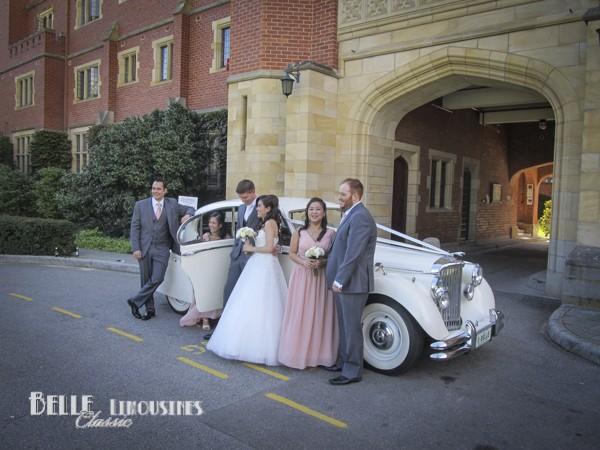 convertible bridal car