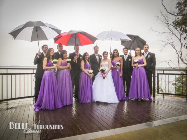 wet wedding in kings park