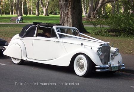 Jaguar Mk5 Convertible Luxury Bridal Transport Belle Classic