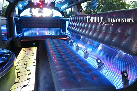 modern limousine seating