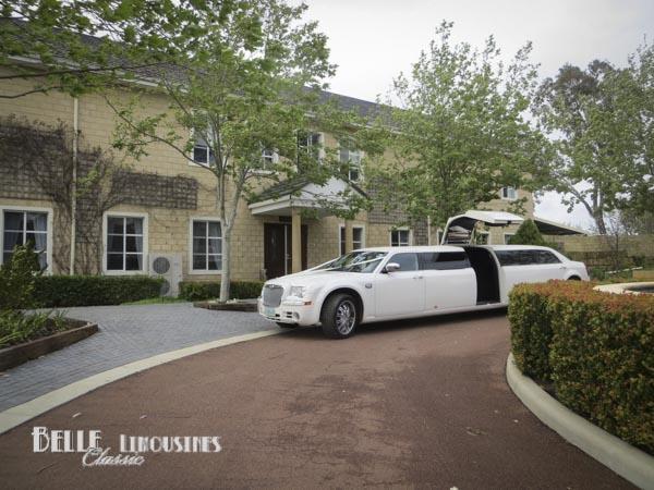 white chrysler limousines