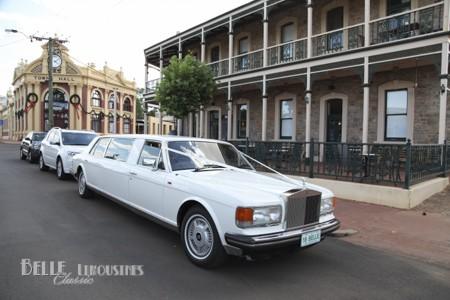 white rolls royce limousine