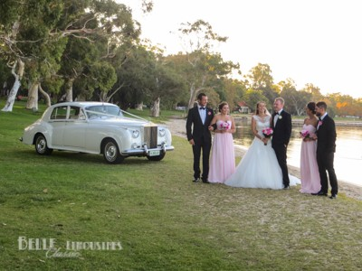 classic wedding limo