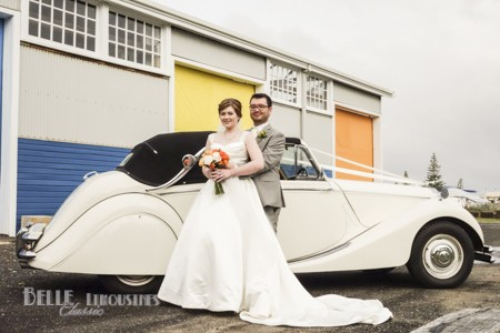 vintage wedding convertible