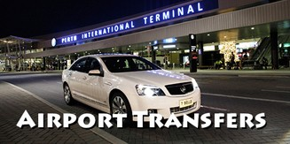 airport transfers, perth