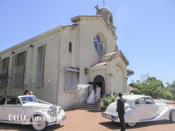 bridal car at wedding ceremony