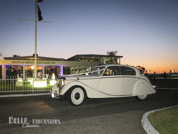 jaguar bridal car