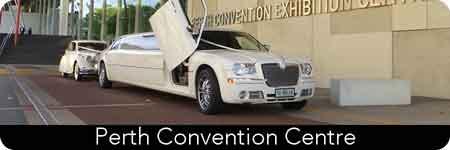 white chrysler limousine