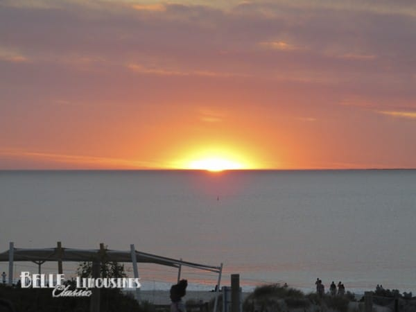 city beach sunset