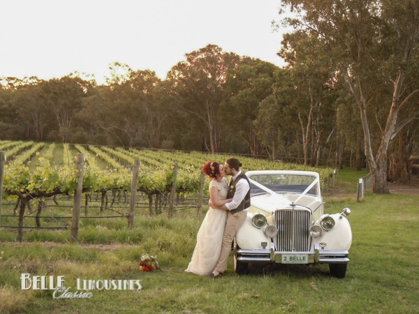 convertible wedding car
