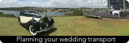 classic wedding transport