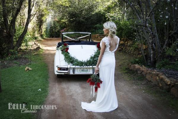 wedding car garland