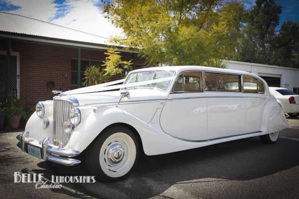 white limo for weddings